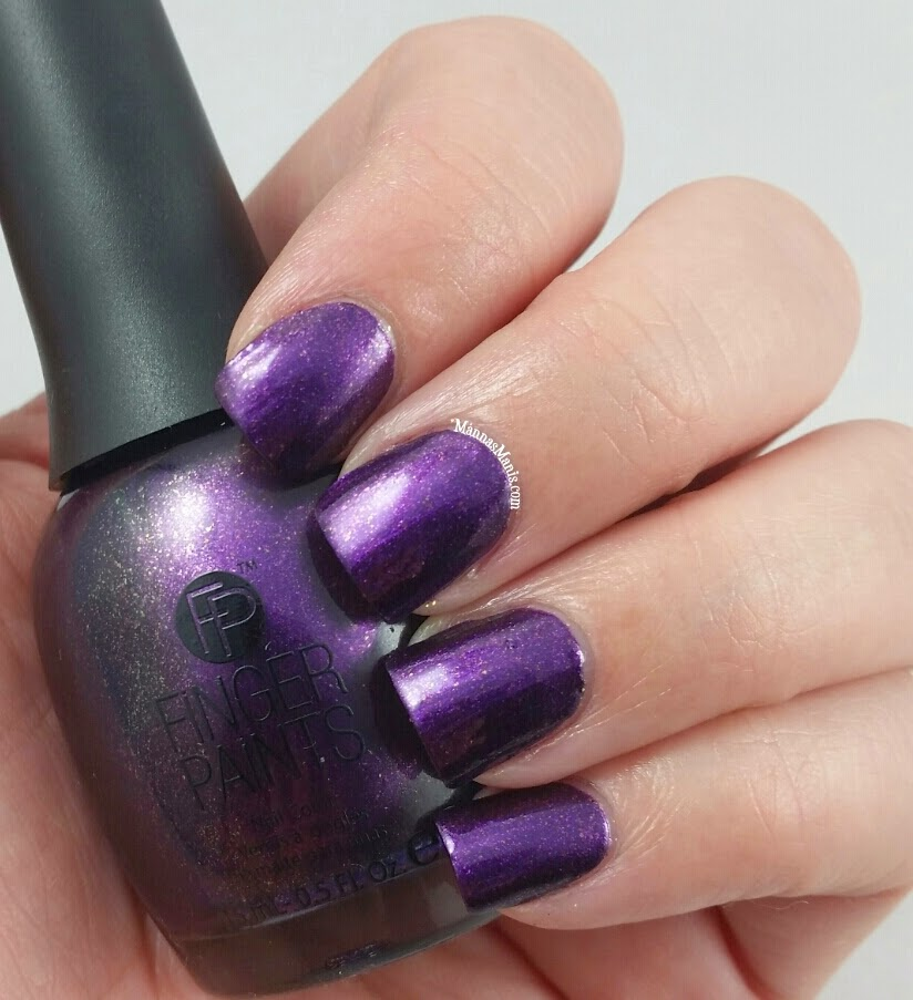 fingerpaints dance til dawn, a purple shimmer nail polish