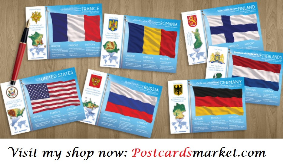 World through postcards, postcrossing and covers