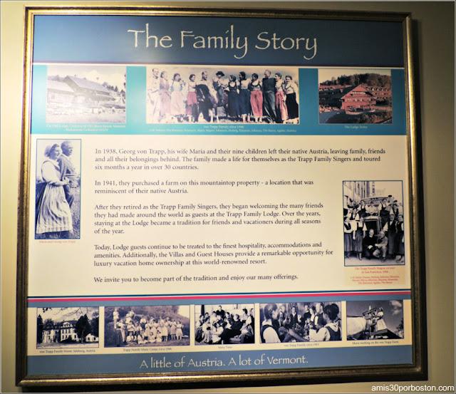 Historia de la Familia Trapp en el Trapp Family Lodge en Stowe, Vermont