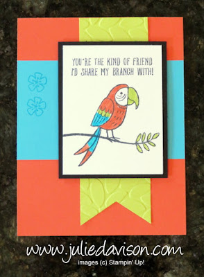 Stampin' Up! Bird Banter ~ Friendship Card ~ 2018 Occasions Catalog ~ www.juliedavison.com