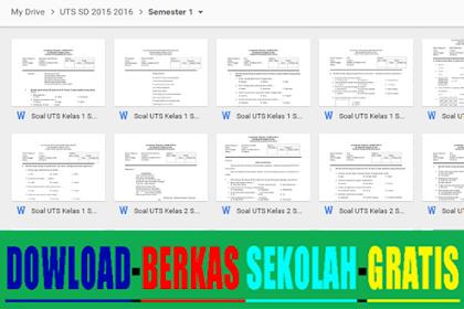 Contoh Soal UTS SD Kelas 1 2 3 4 5 6 Semester 1