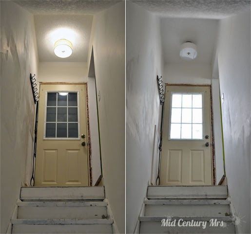 Basement Lighting Fixtures: Mid Century Mrs: Basement: Let There Be Light