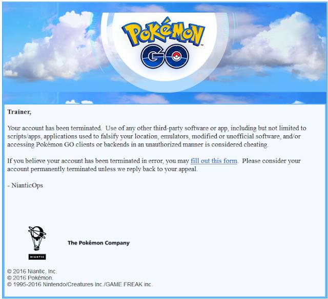 Pokémon GO começa a banir vários usuários trapaceiros.