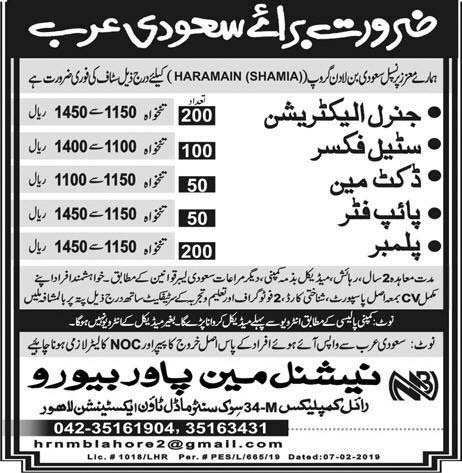 Multiple Jobs in Saudi Arabia - National Manpower