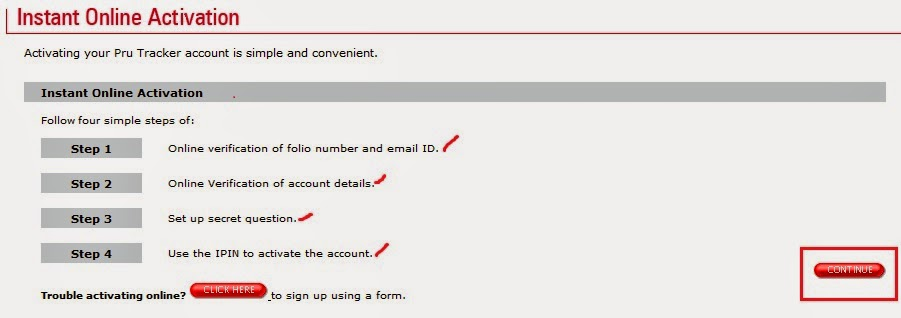 ICICI MF Online User Activation