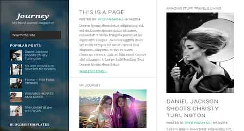 Journey Responsive Blogger Template