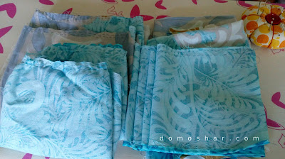 Myosotis dress pieces all cut and prepared for assembling