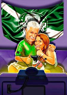 caricatura de família do Palmeiras