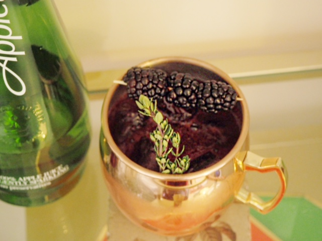 the sloe spring cocktail