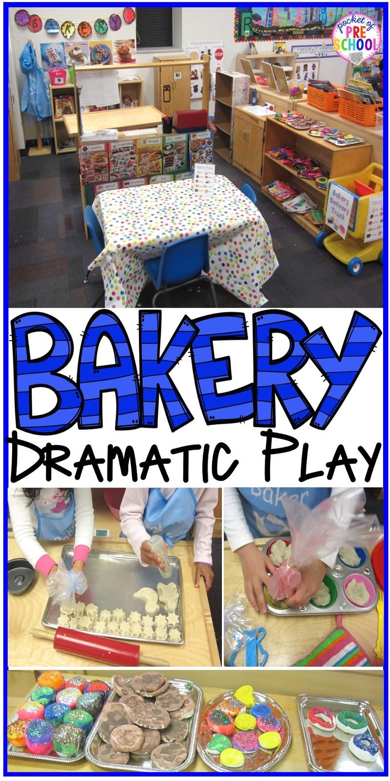 Classroom Theme Ideas Cafe ~ Bakery dramatic play pocket of preschool