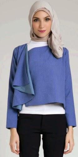 Model baju kerja muslim wanita yang moderen