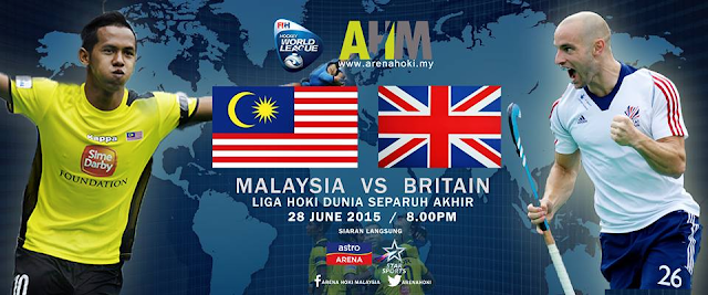 Live streaming Hoki Malaysia Vs Britain 28 Jun 2015