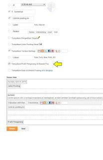 Cara Menampilkan Profile Pengarang Di Blog.
