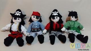 Locação Bonecos Piratas Porto Alegre