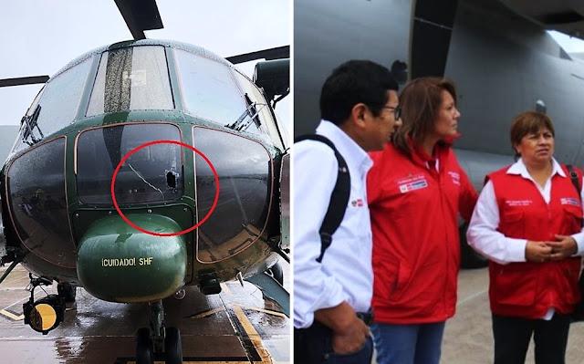 Helicóptero en el que tres ministros viajaban a Yavi Yavi fue atacado con piedras