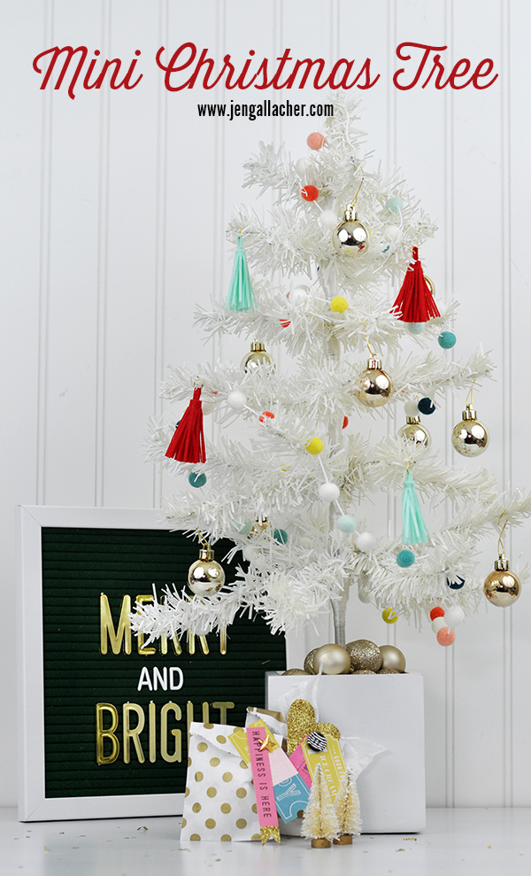 How to Decorate a White Mini Christmas Tree