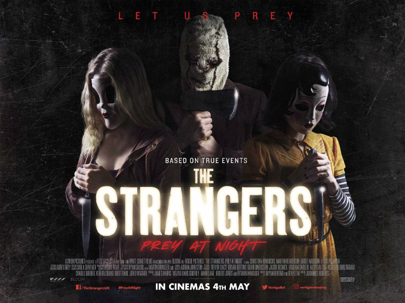 THE STRANGERS: PREY AT NIGHT uk poster