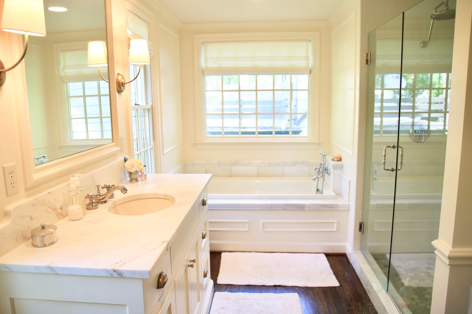 Jenny Steffens Hobick: Our Master Bathroom | White, Ivory, Marble ...