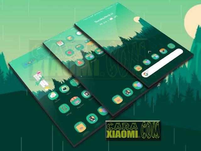 Tema Xiaomi Terbaru Green Low Themes For MIUI Update New Desain
