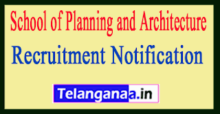 School of Planning and Architecture SPAV Recruitment Notification
