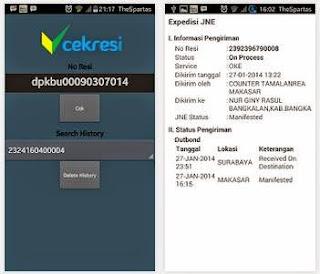 Aplikasi Cek Resi Android