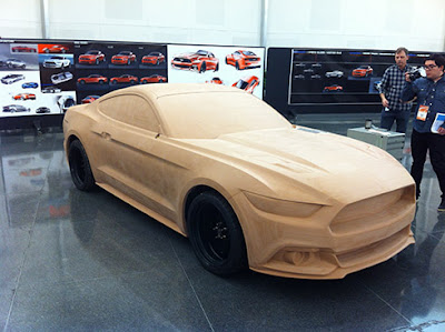 Mô hình đất sét nguyên mẫu Mustang