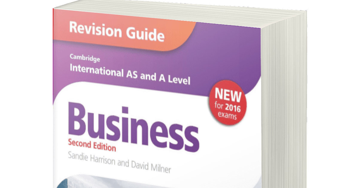 Cambridge International AS and A Level Business Studies Revision