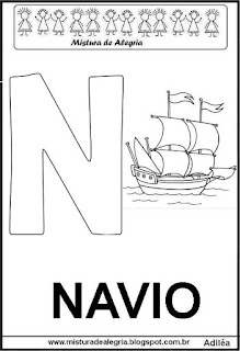 Alfabeto cartaz letra N