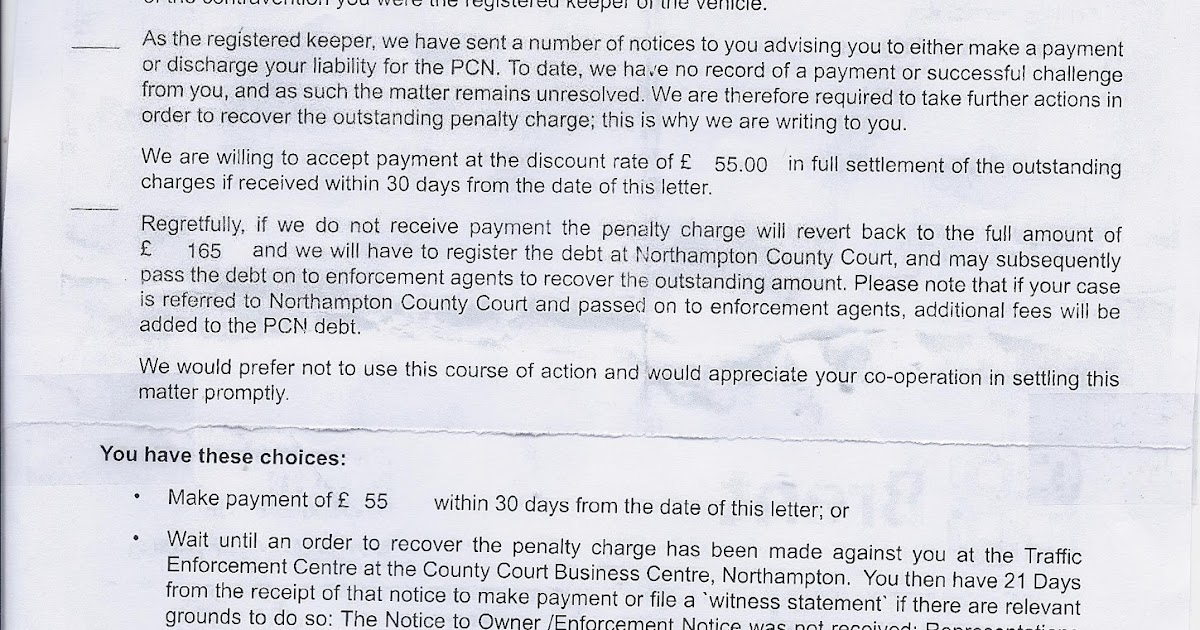 pcn complaint letter Parkingeye pressed ahead with its plans to sue bowen through the county court  to recover its claim for the unpaid ticket, a further penalty for.