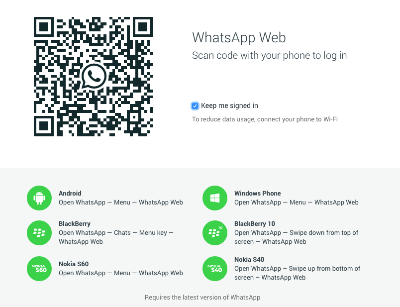Whats App on Web