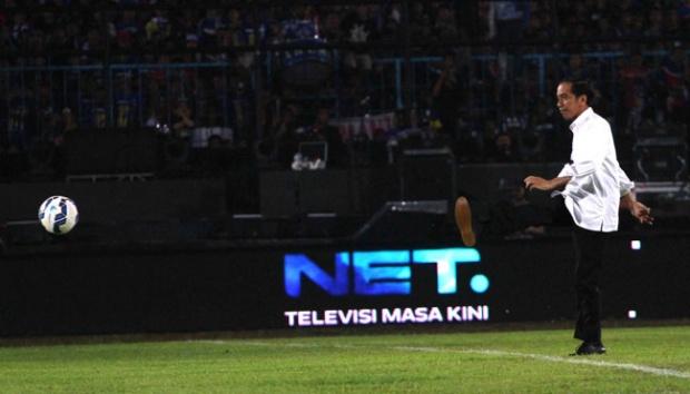 Jokowi Lakukan Tendangan Pertama, Pagar Maguwoharjo Dirubuhkan