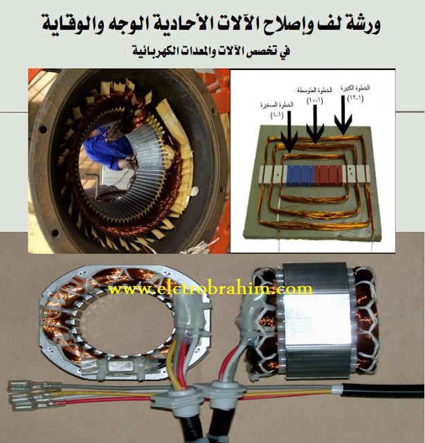 تحميل كتاب ورشة لف وصيانة وإصلاح المحركات الأحادية الوجه للكليات التقنية بالمملكة pdf