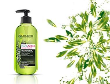 Gel Fraîcheur Ultra-Purifiant Pure Active Wasabi Power - Garnier