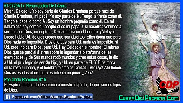 Deidad mora en el hombre - Citas William Branham Mensajes