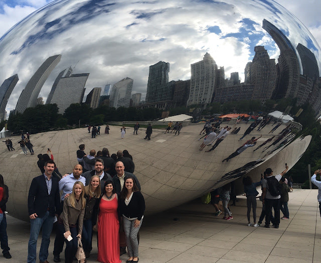 Campus recruiting team at the Chicago bean