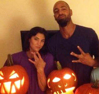 Hope Solo And Jerramy Stevens, Husband At U.S. V Germany Soccer Match