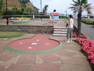 The Crazy Golf course at Shanklin seafront on the Isle of Wight back in 2008