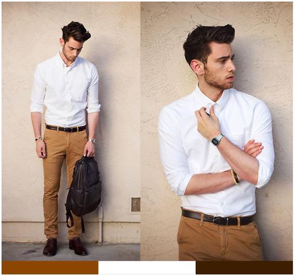 como usar calça colorida masculina - calça marrom masculina como usar