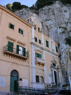The Santuario di Santa Rosalia sits on top of Mount Pellegrino