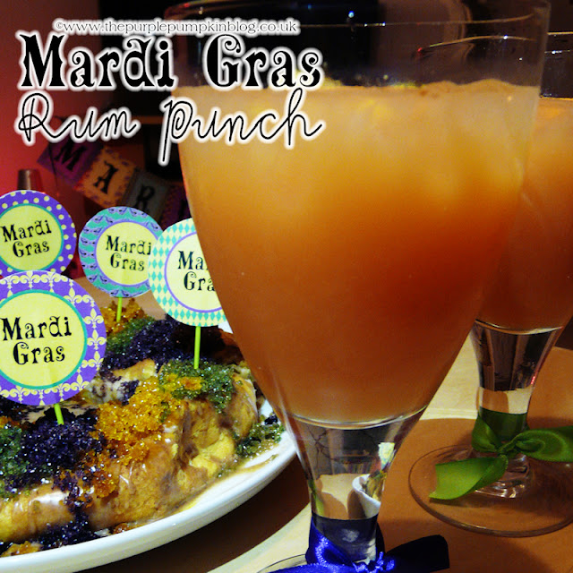 Mardi Gras Rum Punch | The Purple Pumpkin Blog