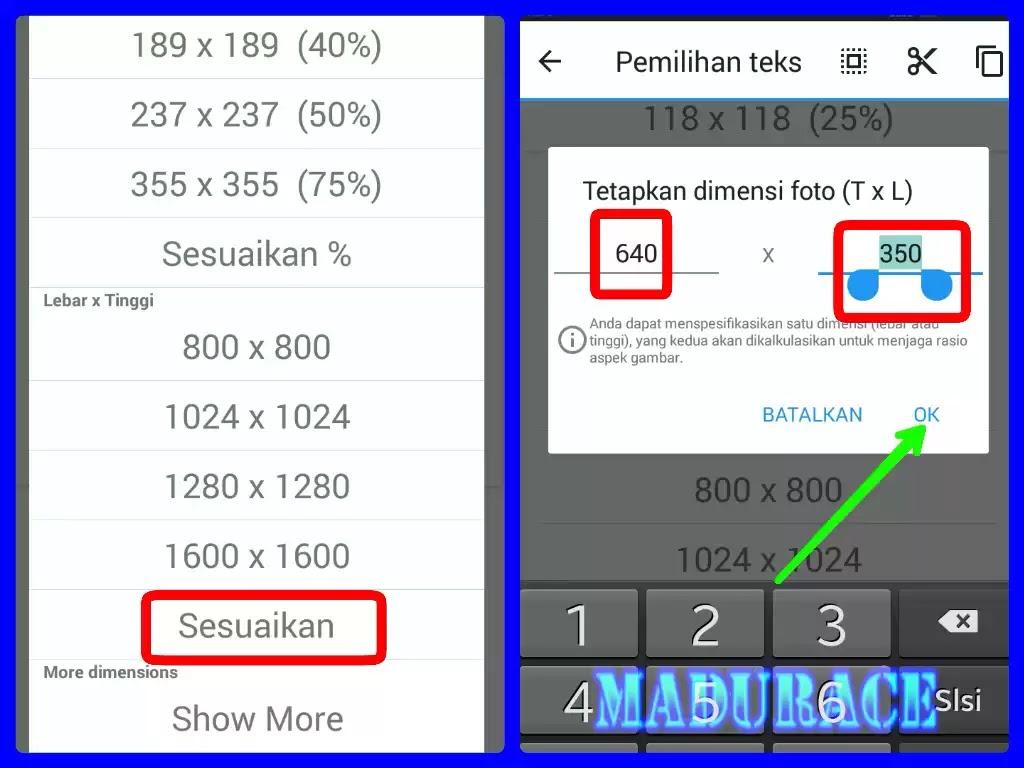 Cara Mengubah Ukuran Dimensi Foto Atau Gambar Hanya Dengan Menggunakan Hp Android Madurace