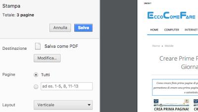 salvare pagine web pdf chrome