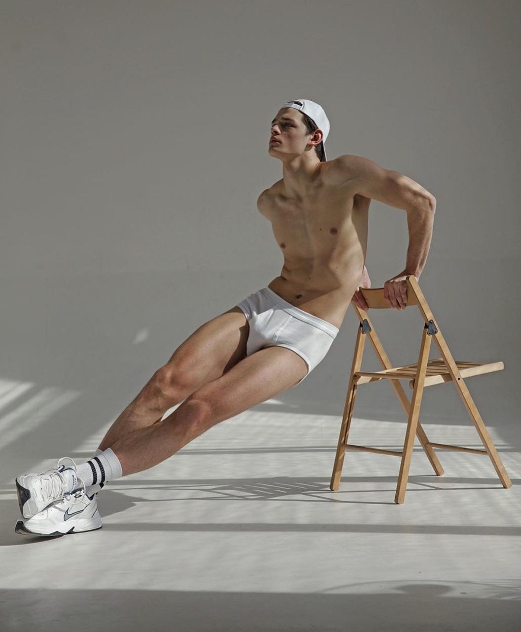 handsome guy, underwear, white, hat