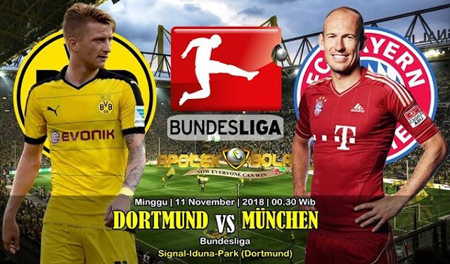 Prediksi Dortmund Vs Bayern Munich 11 November 2018