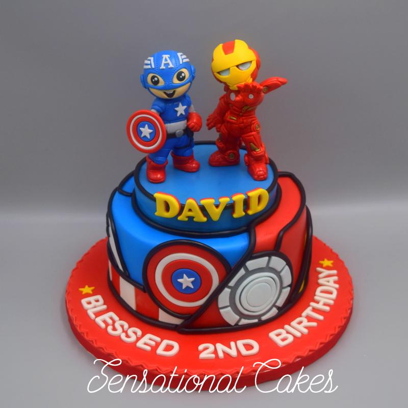 The Sensational Cakes The buddies cake Captain America and Iron