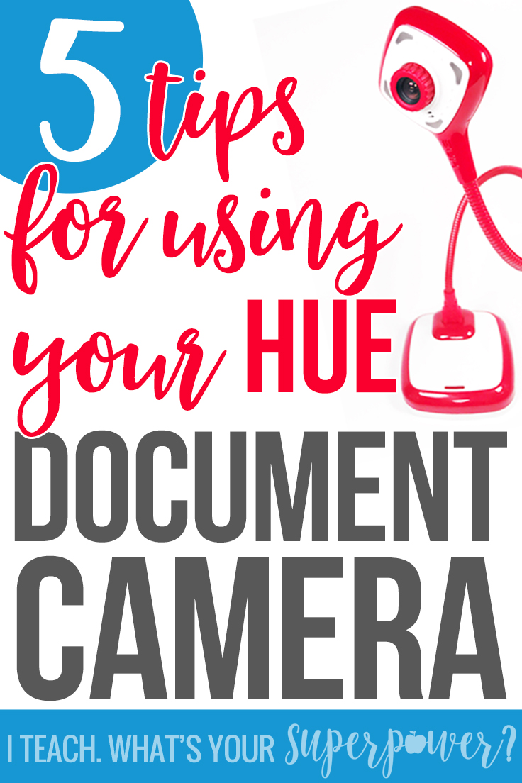 5 ways to get more out of your classroom document camera.  Go beyond the worksheet with these easy tips.