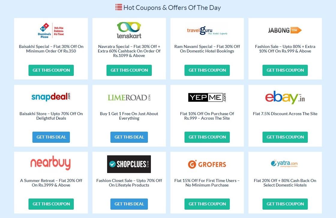 df076e44b Website REVIEW  Couponzguru.com- Shop Latest Online Shopping Coupons ...