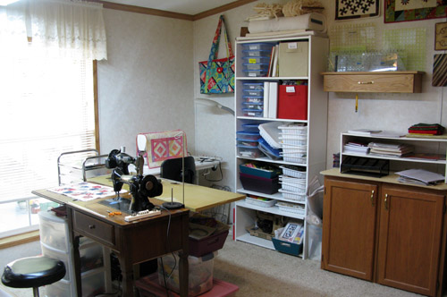 Quilt studio reorganized Freemotion by the River