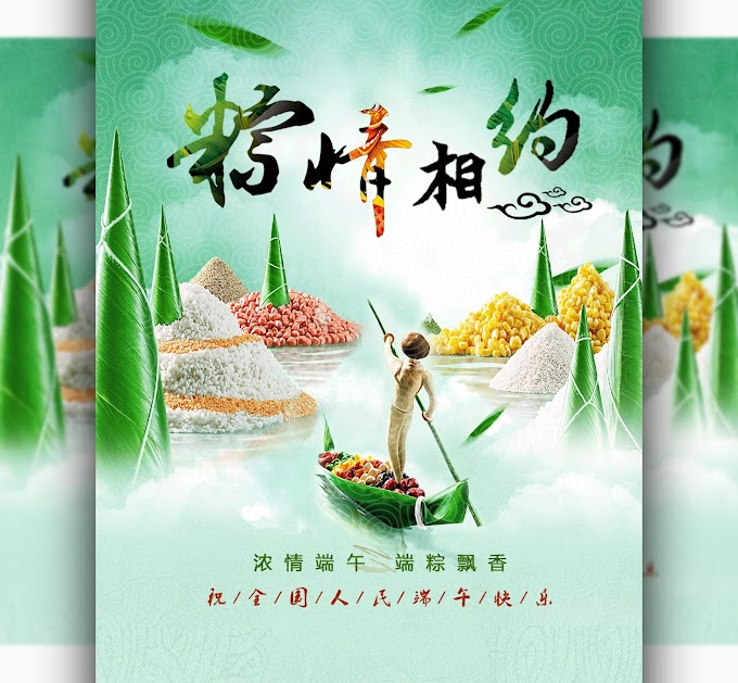 Chinese food zongzi advertising PSD File Free PSD Download