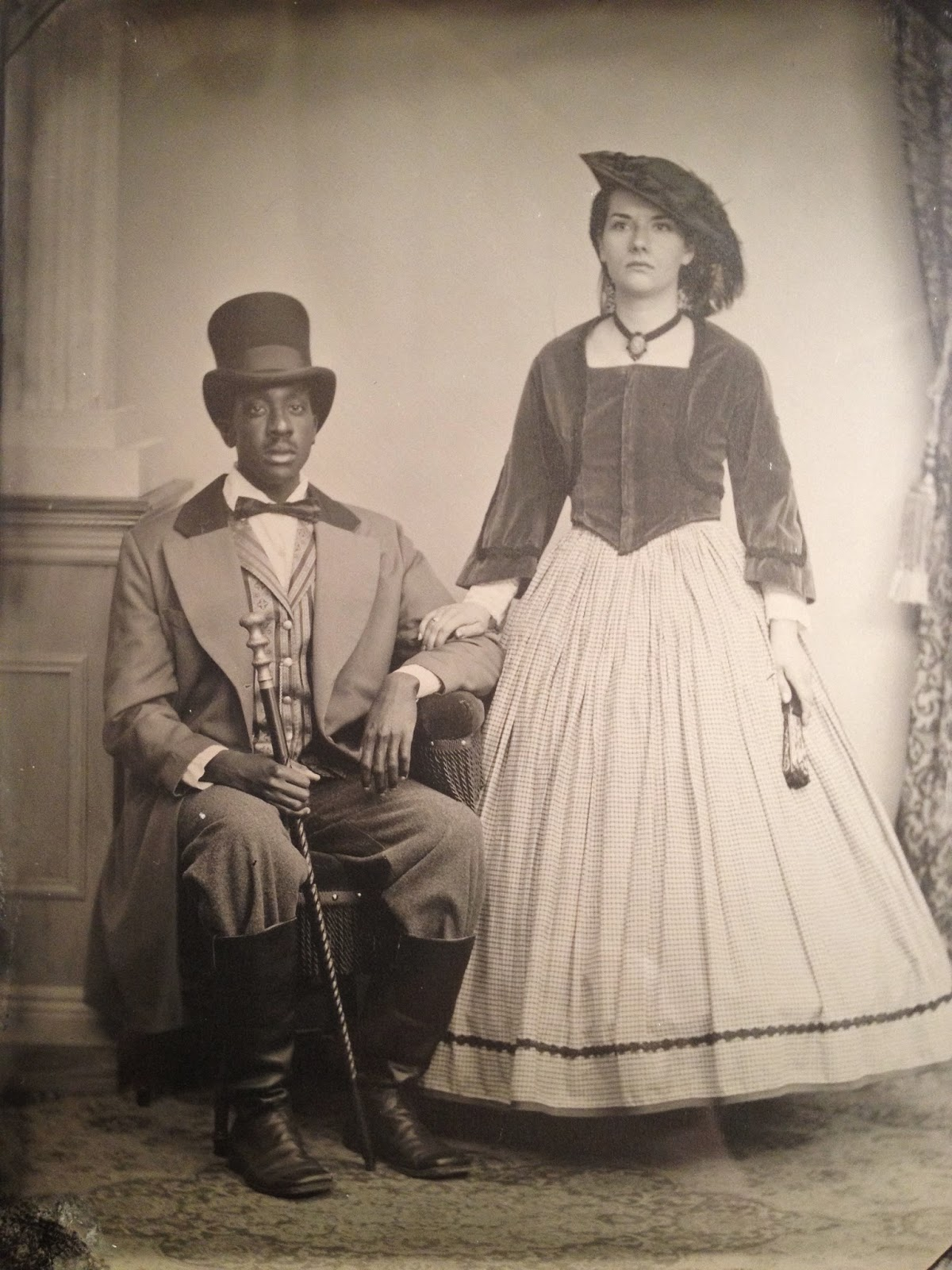 vintage fashion, retro fashion, fifties fashion, retro, fashion bloggers, vintage, vintage fashion, fashion blogger, retro style, Civil War tintype, tintypes, ambrotypes, Sabrina and DaKari, Vibrant Vintage, Sabrina, girls with short hair